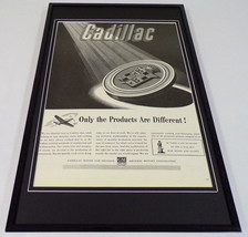 1942 Cadillac / GM Framed 11x17 ORIGINAL Vintage Advertising Poster - $65.09