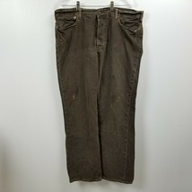Polo Ralph Lauren Mens Button Fly Jeans Pants 40x32 Measures 38x32 Relaxed Brown - $29.88