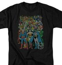 Justice League T-shirt DC comic book super friends hero cartoon black tee DCO373 image 1