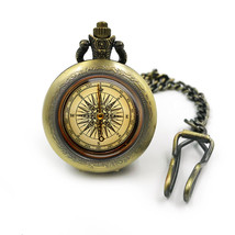 Vintage Compass Pocketwatch, pocket watch, pocketwatches, gift for him, mens poc - $15.00