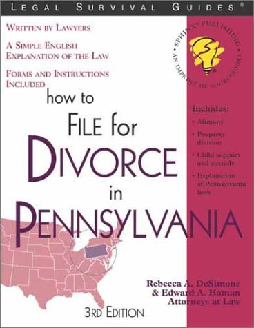 Primary image for How To File For Divorce in Pennsylvania 3rd Edition - Softback - Like New