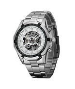 Winner Brand Men Full Stainless Steel Watch Men Skeleton Auto Mechanical... - $34.46