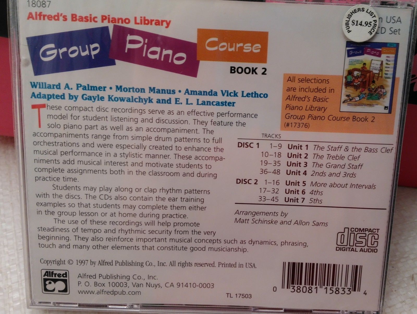 Alfred's Basic Group Piano Course: 2-CD Set, Level 2