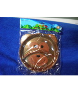 """NEW TODDLER PLASTIC DIVIDED PLATE BROWN BEAR 7"""" diam Lot of 2 in Package - $5.86"""