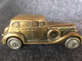 Vintage~BANTHRICO Inc. 1937 PACKARD V-12 Diecast Metal Coin Bank with BOX - $7.95