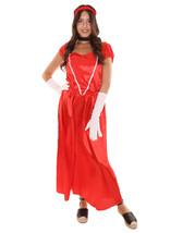 Adult Women's Aristocrat Socialite Dress 20s Costume   Red Cosplay Costume - $35.85