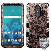 Black Four-Leaf Clover/Black TUFF Hybrid Phone Cover for LG Stylo 4 Plus... - $14.56