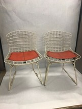 Mid Century Modern Bertoia for Knoll pair childs chairs 1950s marked cus... - $1,880.01