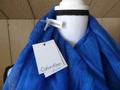 $34.00 Calvin Klein Crepe Infinity Loop Scarf, Aegean