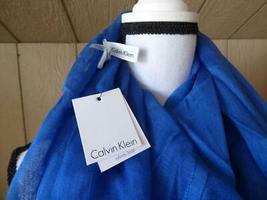 $34.00 Calvin Klein Crepe Infinity Loop Scarf, Aegean image 3