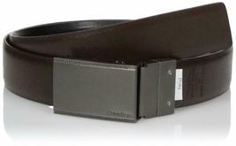 Calvin Klein Men's Reversible Plaque Buckle 30mm Genuine Leather Belt 7539196 image 2
