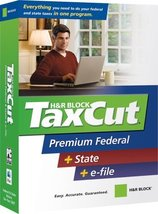 H&R Block TaxCut 2007 Premium Federal + State + e-file [OLD VERSION] [CD-ROM]... - $5.94