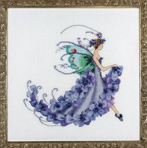 Wisteria Pixie Blossoms Collection NC199 FULL AIDA KIT Nora Corbett Desi... - $34.80