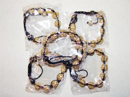 Wholesale 5 Unisex Big Bead Yellow Gold Color good Cz Bracelet 12mm Disc... - $49.45