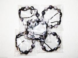 Wholesale5 Unisex Big Bead black white Color Cz crystal Bracelet 12m Dis... - $49.45