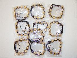 Wholesale Unisex Big Bead Yellow Gold Color good Cz Bracelet 12mm Disco ... - $79.15
