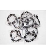 Wholesale10 Unisex Big Bead black white Color Cz crystal Bracelet 12m Di... - $79.15