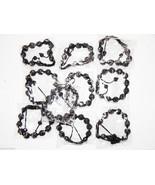 Wholesale 10 Unisex Big Bead black Color good Cz Bracelet 12mm Disco Ball - $79.15