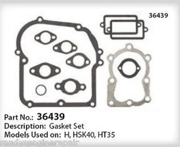 Tecumseh 36439 Engine Overhaul Gasket Kit fits many H, HSK40, HT35 models listed - $17.99