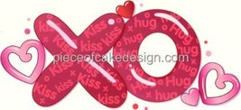 "6"" Round ~ Valentine's Day Hugs & Kisses ~ Edible Image Cake/Cupcake Topper!!! - $7.13"
