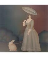 Igor Galanin Serigraph Walking The Rabbit Pencil Signed b1937 Listed 02068 - $629.00