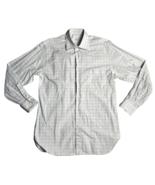 Ermenegildo Zegna Men's Size L Button Up Dress Shirt Cotton White Checke... - $37.95