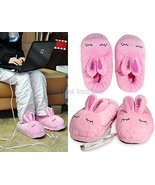 Warm USB Bunny Shaped Slippers (Pink) [Kitchen] - $19.31