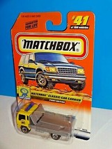 Matchbox Show Cars Series #41 Classic Car Carrier Yellow w/ 2000 Logo - $5.00