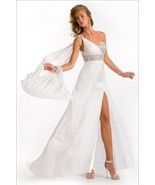 Sexy One Shoulder Silk Pageant Prom Evening Gown Dress, Prima Donna 5617 - $788.52 CAD