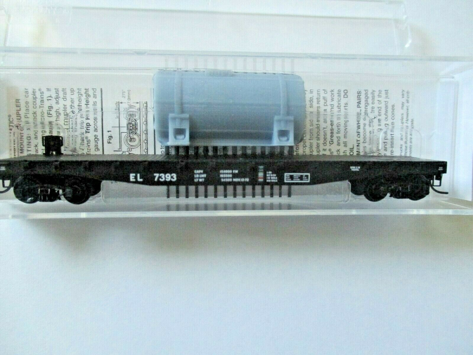 Micro-Trains # 04500540 Erie Lackawanna 50' Flat Car with Load N-Scale
