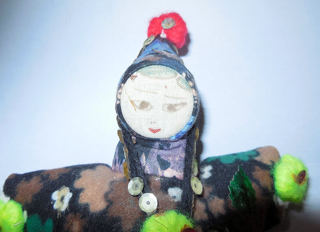 Gipsy Vintage Doll Toy Wearing National Costume - 9 inch
