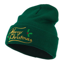 Merry Christmas with Mistletoes Embroidered Lon... - $18.49