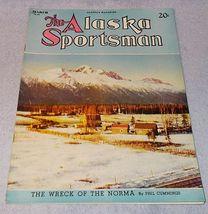 Vintage The Alaska Sportsman Magazine March 1945 Sled Dogs Salmon Trout ... - $11.95
