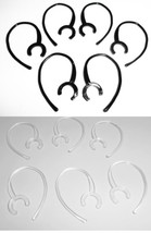 12 Large Clamp Black Clear USA Made Bluetooth Ear Hook Loop Clip 9mm rep... - $9.49