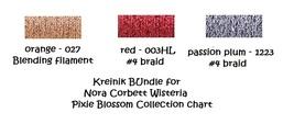 FIBER PACK KREINIK 3 spools Wisteria NC199FP Nora Corbett  - $7.80