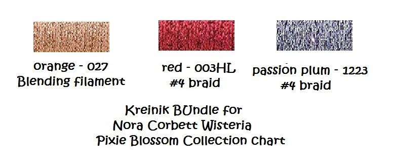 Wisteria Pixie Blossoms Collection NC199 FULL JOBELAN KIT Nora Corbett Designs