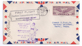 1931 First Flight AM 33 Birmingham AL So Trans. Airway PM Signed - $8.54