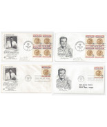 1096 Ramon Magsaysay FDC s 4 First Day Covers 2 Diff Cachets Blks of 4 - €7,99 EUR