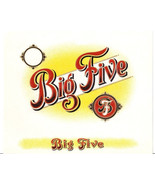 Big Five Embossed Cigar Box Label Inner without 5c - $6.36