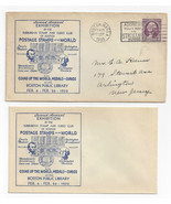 Boston Suburban Stamp Curio Club 2nd Annual Exhibition 1933 w Enclosed R... - $9.30