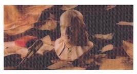 Benjamin Franklin Bust Floating Library Items Lenticular 3-D Art Postcar... - $18.95