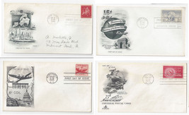 C38 C41 C43 C44 Air mail FDC s 4 Different First Day Cachet Covers - $6.36