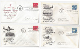 C51 C52 C64 C64a Air Mail FDC s 4 Different Cacheted First Day Covers 1 ... - $6.64