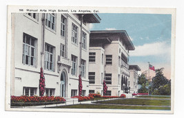 CA Los Angeles Manual Arts High School Vintage Kashower Postcard - $6.64