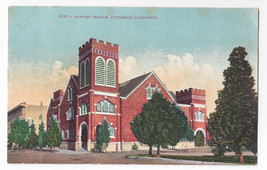 CA Riverside Baptist Church Vintage Edw H Mitchell Postcard - $7.40