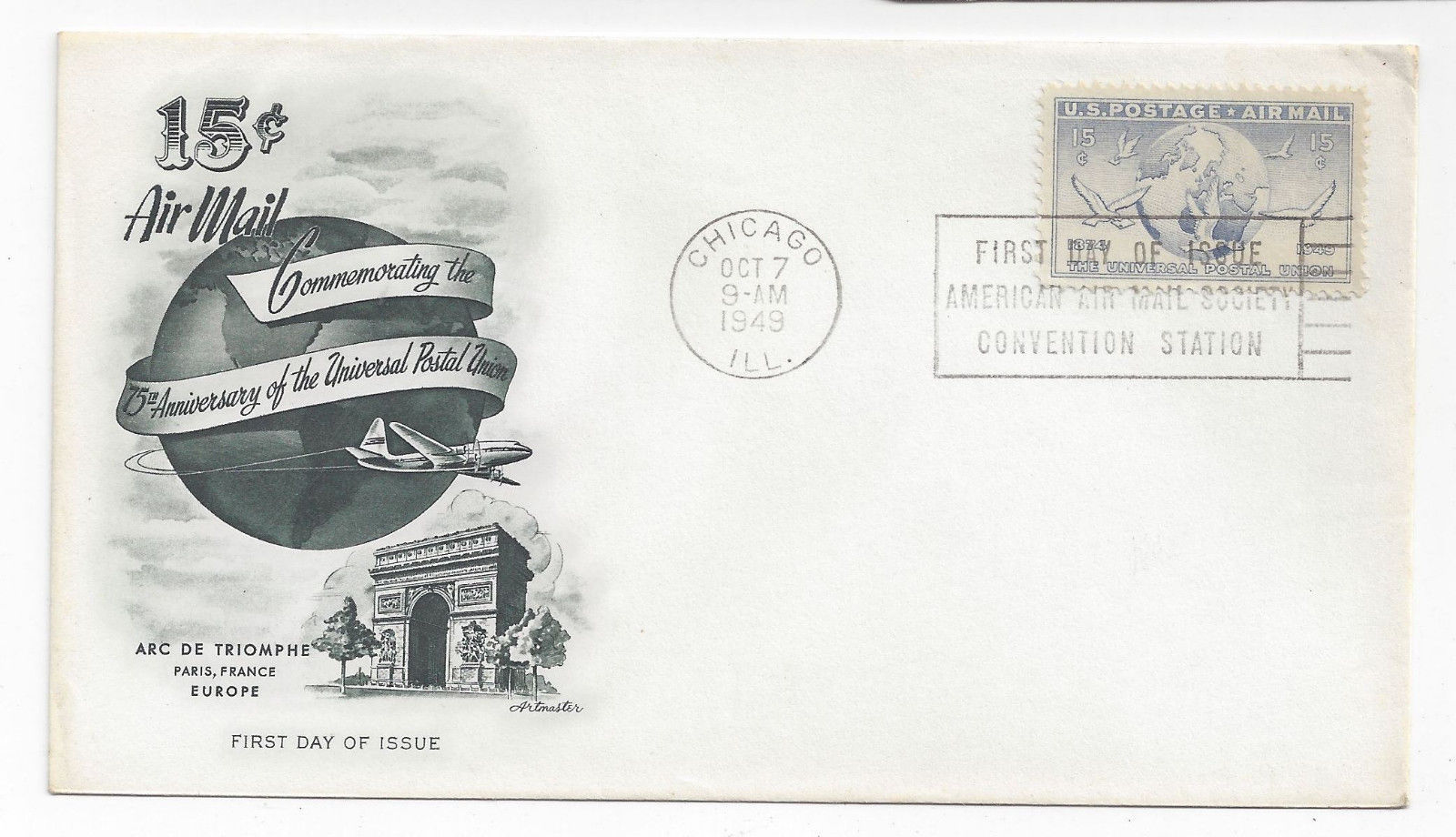 C38 C41 C43 C44 Air mail FDC s 4 Different First Day Cachet Covers