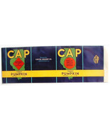CAP Pumpkin Can Label Springfield IL Map 1 lb 13 oz Capitol Grocery - $4.74