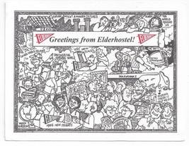 Cady Goldfield Illustration Greetings from Elderhostel 1995 Postcard - $8.54