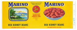 Can Label Marino Kidney Beans Rosebank NY Image of Sicily - $4.74