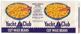 Can label Yacht Club Wax Beans Trilingual Chicago IL - $4.74